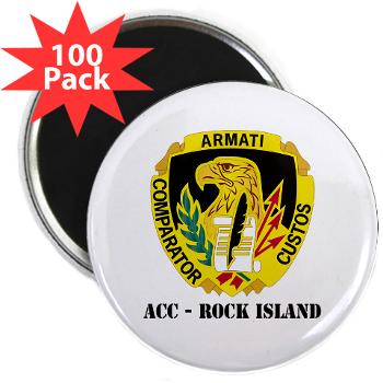 "ACCRI - M01 - 01 - DUI - ACC - Rock Island with text - 2.25"" Magnet (100 pack)"