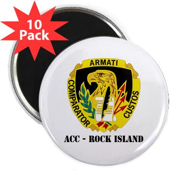 "ACCRI - M01 - 01 - DUI - ACC - Rock Island with text - 2.25"" Magnet (10 pack)"