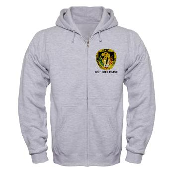 ACCRI - A01 - 03 - DUI - ACC - Rock Island with text - Zip Hoodie