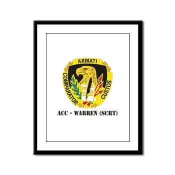ACCWSCRT - M01 - 02 - DUI - ACC - Warren (SCRT) with Text - Framed Panel Print