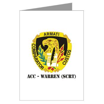 ACCWSCRT - M01 - 02 - DUI - ACC - Warren (SCRT) with Text - Greeting Cards (Pk of 20)