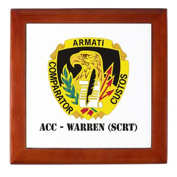 ACCWSCRT - M01 - 03 - DUI - ACC - Warren (SCRT) with Text - Keepsake Box