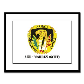ACCWSCRT - M01 - 02 - DUI - ACC - Warren (SCRT) with Text - Large Framed Print