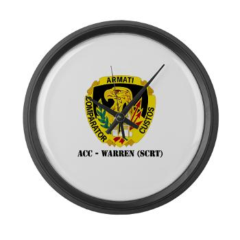 ACCWSCRT - M01 - 03 - DUI - ACC - Warren (SCRT) with Text - Large Wall Clock