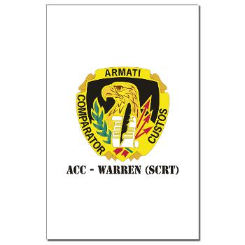 ACCWSCRT - M01 - 02 - DUI - ACC - Warren (SCRT) with Text - Mini Poster Print