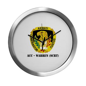ACCWSCRT - M01 - 03 - DUI - ACC - Warren (SCRT) with Text - Modern Wall Clock