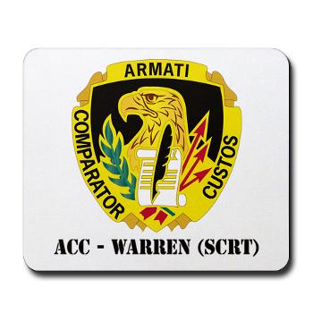 ACCWSCRT - M01 - 03 - DUI - ACC - Warren (SCRT) with Text - Mousepad
