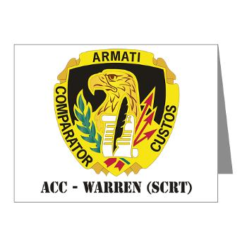 ACCWSCRT - M01 - 02 - DUI - ACC - Warren (SCRT) with Text - Note Cards (Pk of 20)