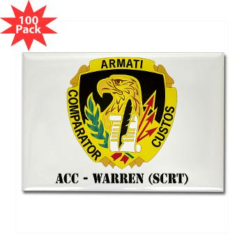 ACCWSCRT - M01 - 01 - DUI - ACC - Warren (SCRT) with Text - Rectangle Magnet (100 pack)