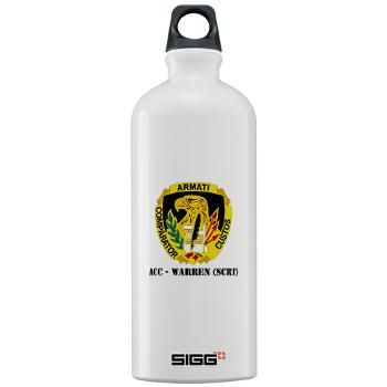 ACCWSCRT - M01 - 03 - DUI - ACC - Warren (SCRT) with Text - Sigg Water Bottle 1.0L