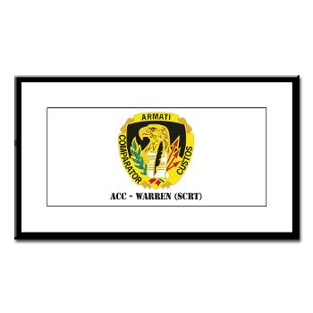 ACCWSCRT - M01 - 02 - DUI - ACC - Warren (SCRT) with Text - Small Framed Print