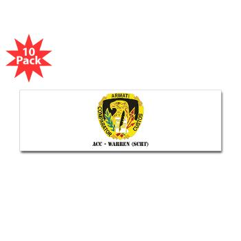 ACCWSCRT - M01 - 01 - DUI - ACC - Warren (SCRT) with Text - Sticker (Bumper 10 pk)