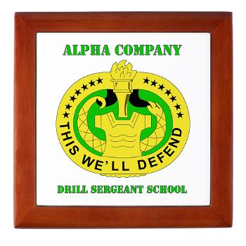 ACDSS - M01 - 03 - DUI - Alpha Co - Drill Sgt School with Text Keepsake Box