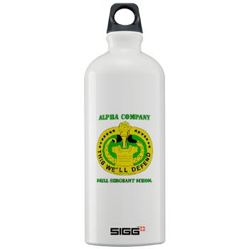 ACDSS - M01 - 03 - DUI - Alpha Co - Drill Sgt School with Text Sigg Water Bottle 1.0L