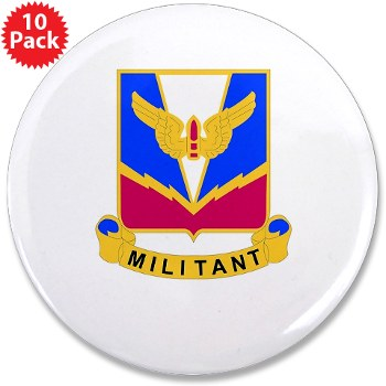 "ADASchool - M01 - 01 - DUI - Air Defense Artillery Center/School 3.5"" Button (10 pack)"