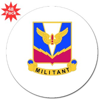 "ADASchool - M01 - 01 - DUI - Air Defense Artillery Center/School 3"" Lapel Sticker (48 pk)"