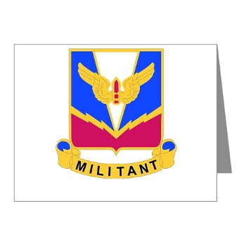 ADASchool - M01 - 02 - DUI - Air Defense Artillery Center/School Note Cards (Pk of 20)