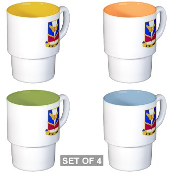 ADASchool - M01 - 03 - DUI - Air Defense Artillery Center/School Stackable Mug Set (4 mugs)