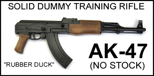 AK-47 Replica, No Stock - Solid Dummy Training Rifle - Painted