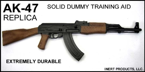 Inert, Replica AK-47 Solid Dummy Training Rifle - Painted