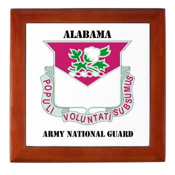 ALABAMAARNG - M01 - 03 - DUI - Alabama Army National Guard with text - Keepsake Box