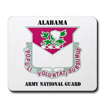 ALABAMAARNG - M01 - 03 - DUI - Alabama Army National Guard with text - Mousepad