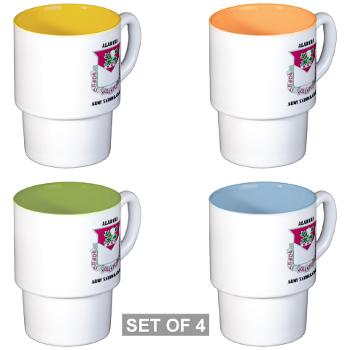 ALABAMAARNG - M01 - 03 - DUI - Alabama Army National Guard with text - Stackable Mug Set (4 mugs)