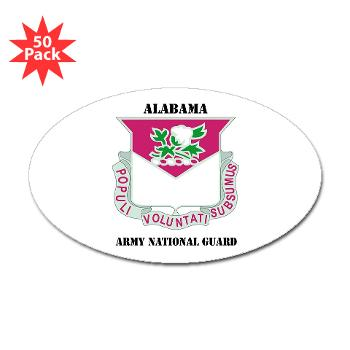 ALABAMAARNG - M01 - 01 - DUI - Alabama Army National Guard with text - Sticker (Oval 50 pk)