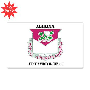ALABAMAARNG - M01 - 01 - DUI - Alabama Army National Guard with text - Sticker (Rectangle 10 pk)