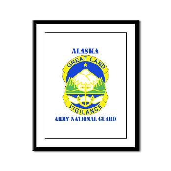 ALASKAARNG - M01 - 02 - DUI - Alaska National Guard with text Framed Panel Print