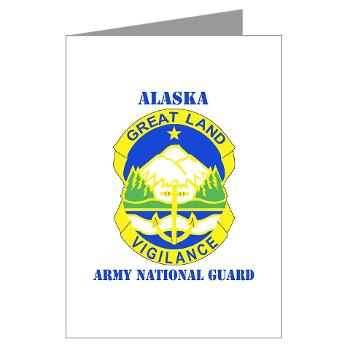 ALASKAARNG - M01 - 02 - DUI - Alaska National Guard with text Greeting Cards (Pk of 20)