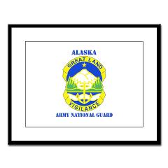 ALASKAARNG - M01 - 02 - DUI - Alaska National Guard with text Large Framed Print