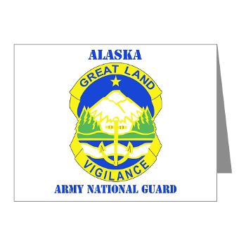 ALASKAARNG - M01 - 02 - DUI - Alaska National Guard with text Note Cards (Pk of 20)