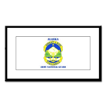 ALASKAARNG - M01 - 02 - DUI - Alaska National Guard with text Small Framed Print