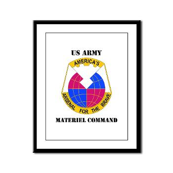 AMC - M01 - 02 - DUI - Army Materiel Command with Text - Framed Panel Print
