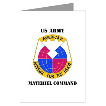 AMC - M01 - 02 - DUI - Army Materiel Command with Text - Greeting Cards (Pk of 10)