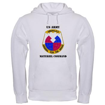 AMC - A01 - 03 - DUI - Army Materiel Command with Text - Hooded Sweatshirt