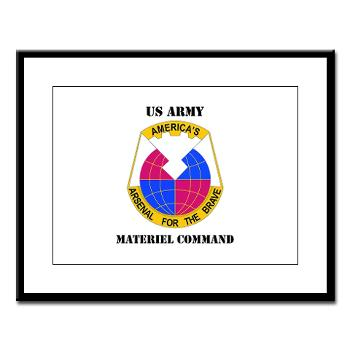 AMC - M01 - 02 - DUI - Army Materiel Command with Text - Large Framed Print