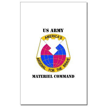 AMC - M01 - 02 - DUI - Army Materiel Command with Text - Mini Poster Print