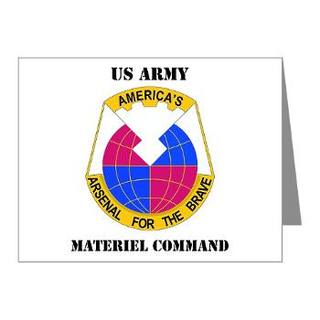 AMC - M01 - 02 - DUI - Army Materiel Command with Text - Note Cards (Pk of 20)