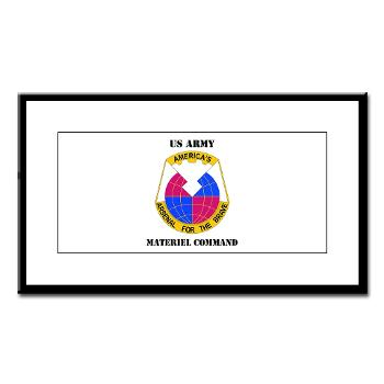 AMC - M01 - 02 - DUI - Army Materiel Command with Text - Small Framed Print