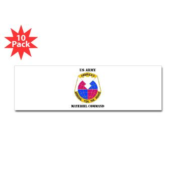 AMC - M01 - 01 - DUI - Army Materiel Command with Text - Sticker (Bumper 10 pk)