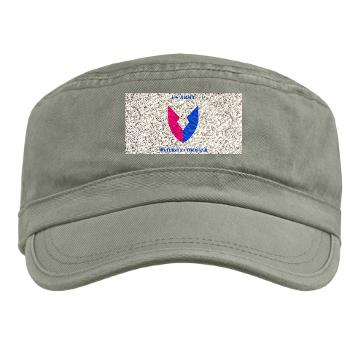 AMC - A01 - 01 - SSI - Army Materiel Command with Text - Military Cap