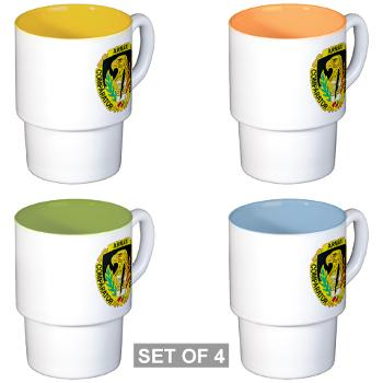 AMCUSACC - M01 - 03 - DUI - USA Contracting Command - Stackable Mug Set (4 mugs)