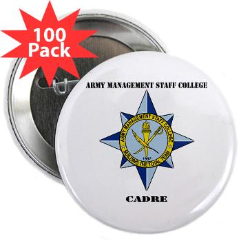 "AMSCC - M01 - 01 - DUI - Army Management Staff College Cadre with Text - 2.25"" Button (10 pack)"