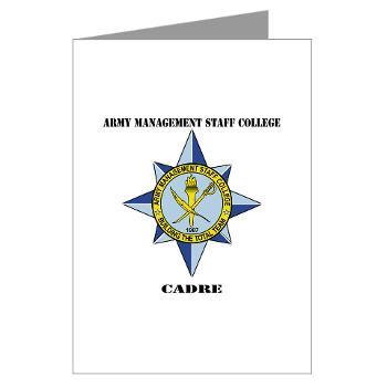 AMSCC - M01 - 02 - DUI - Army Management Staff College Cadre with Text - Greeting Cards (Pk of 10)