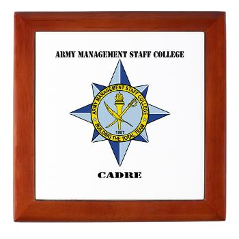 AMSCC - M01 - 03 - DUI - Army Management Staff College Cadre with Text - Keepsake Box
