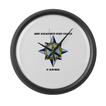 AMSCC - M01 - 03 - DUI - Army Management Staff College Cadre with Text - Large Wall Clock
