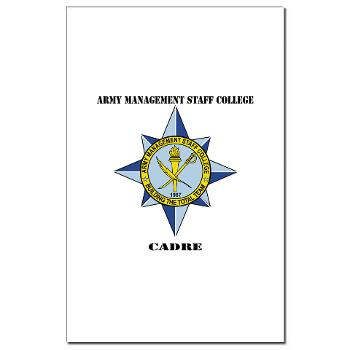 AMSCC - M01 - 02 - DUI - Army Management Staff College Cadre with Text - Mini Poster Print