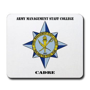AMSCC - M01 - 03 - DUI - Army Management Staff College Cadre with Text - Mousepad